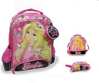 "Barbie Glitter 16"" Backpack Set"