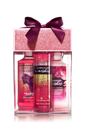 Bath and Body Works Signature Collection A Thousand Wishes Gift Set in clear box