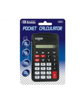 Bazic 8 Digit Pocket Calculator