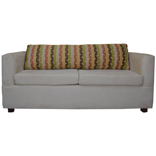 Beige Loveseat with Removable Cushions