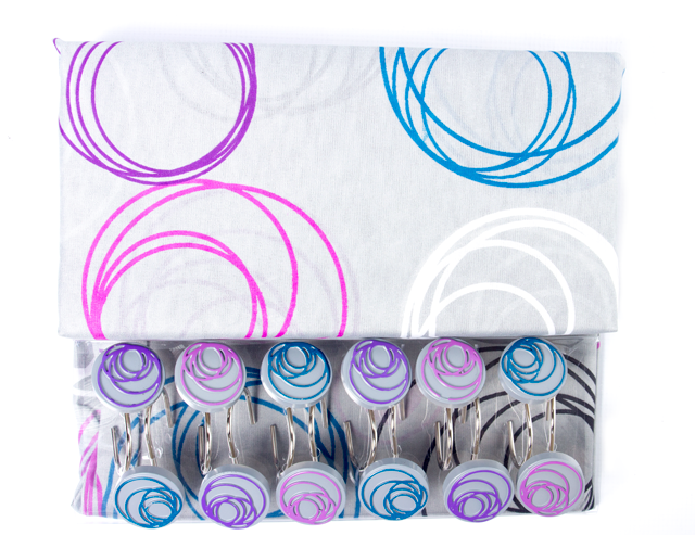Better Home Printed Fabric Shower Curtain Set