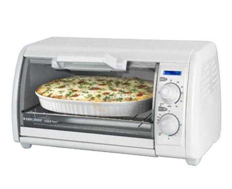 Black & Decker White Toaster Oven