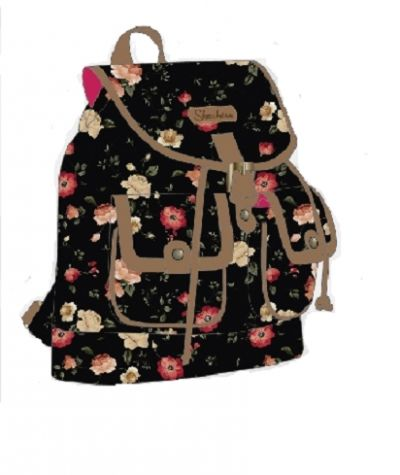 Skechers - Vera 25 Drawstring Backpack Black Floral