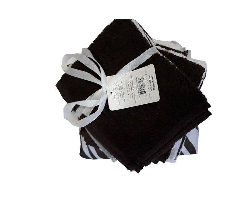 Black & White Unisex Wash Cloths