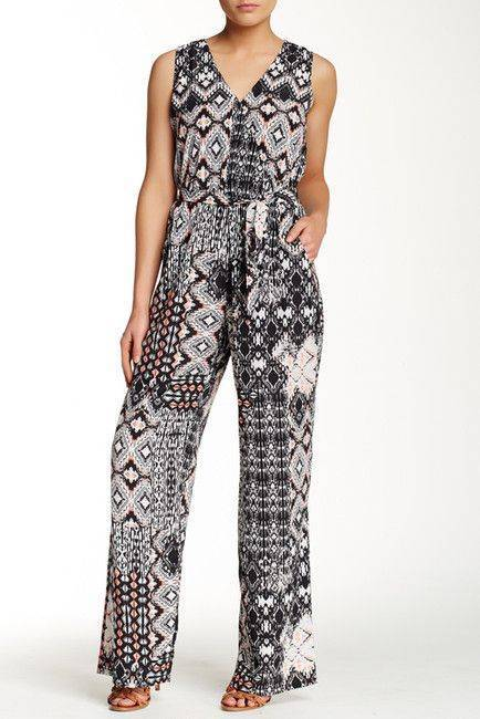 Blue Ivory Surplice Jumpsuit - Grey