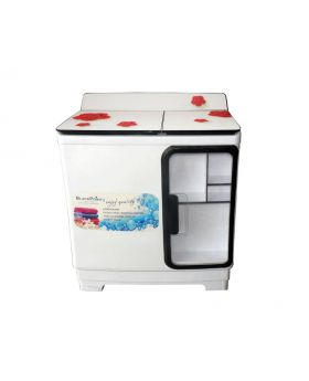 Blackpoint 14KG Red Cherry Flower Glass Cover Twin Tub Steel Drum Washer
