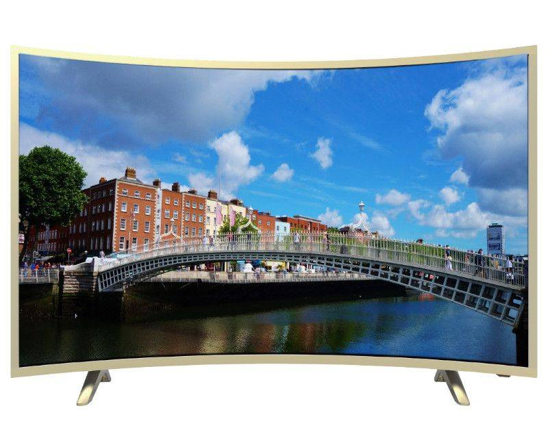 "Blackpoint 50"" Quad Core Curve Smart TV"