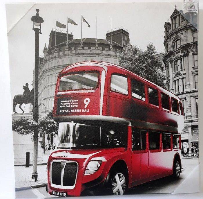 British Double-Decker Bus Drawing