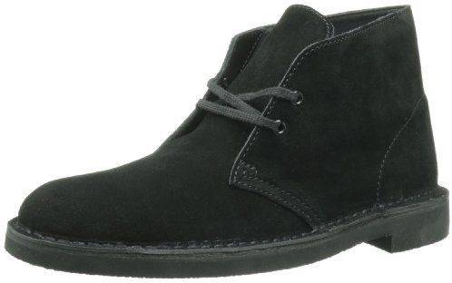 Clarks Bushacre 2 Black Suede Boots for Men-12