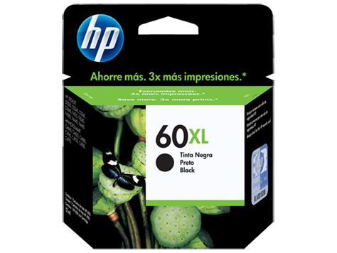 HPc CC641WL #60XL Large Black Ink  600 pages