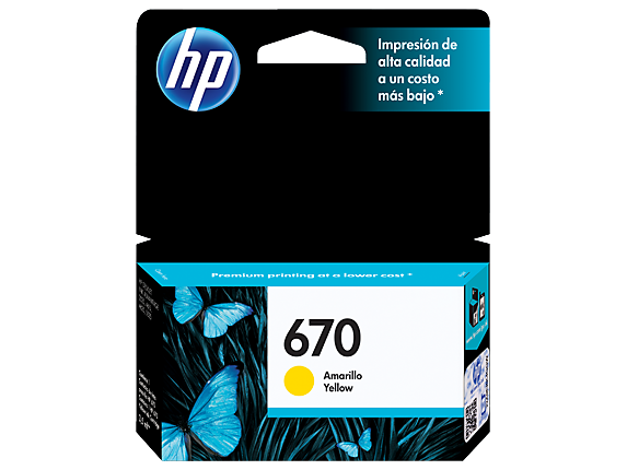 HPc CZ116AL 670 Yellow Ink Cartridge 300 pages