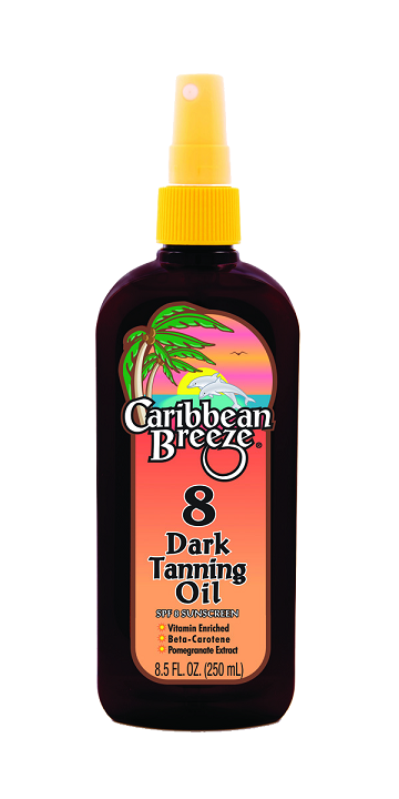 Caribbean Breeze SPF 8 Dark Tanning Oil