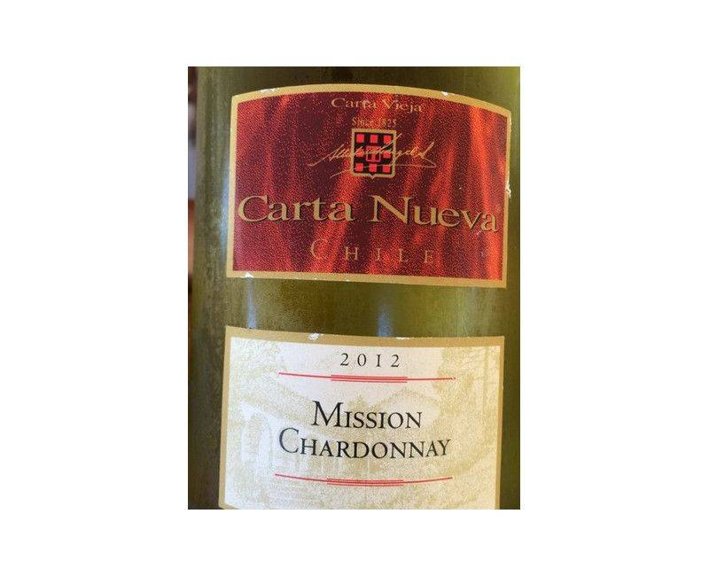 Carta Nueva Wine of Chile Mission Chardonnay 750ml