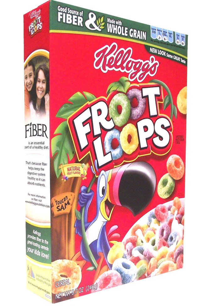 Kelloggs Froot Loops Cereal 246 Grams
