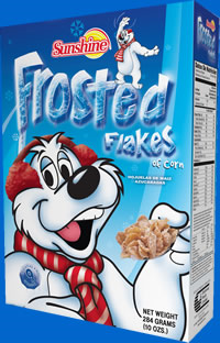 Sunshine Frosted Flakes Cereal 284 Gram