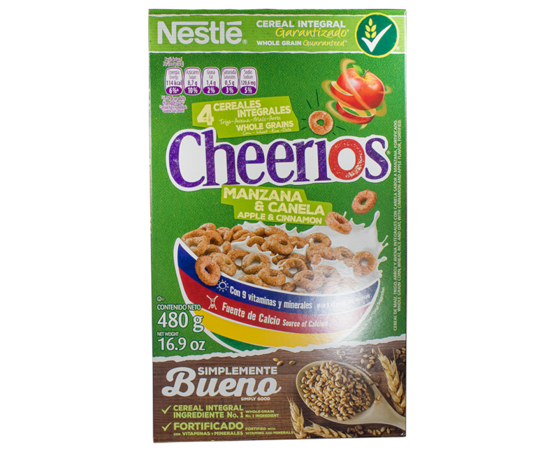 CHEERIOS Apple and Cinnamon Cereal 480g Box