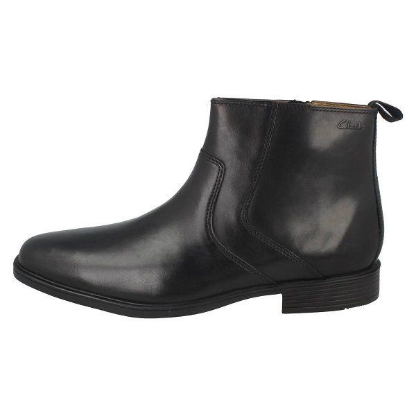 Clarks Tilden Ankle Zip Black Boot for Men