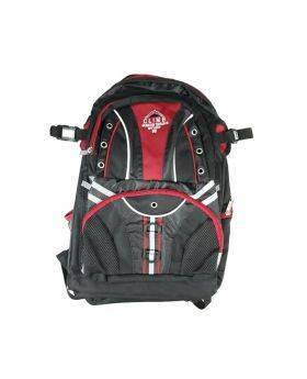 Climb Black and Red School Bag with Workbook Sleeve