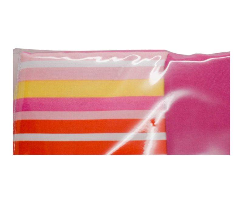 Closeup view of the Home and You King Size 4 Piece Bed Sheet Set Pink and Yellow