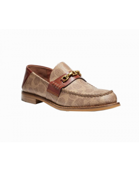 Coach Putnam Loafer In Signature Canvas Size:9.5 B