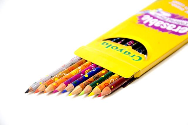 Crayola 10 Pack Erasable Pencil Crayons