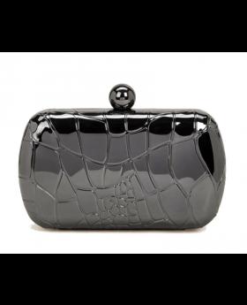 Croc Embossed Clutch Bag