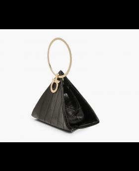 Croc Triangular Ring Clutch Bag