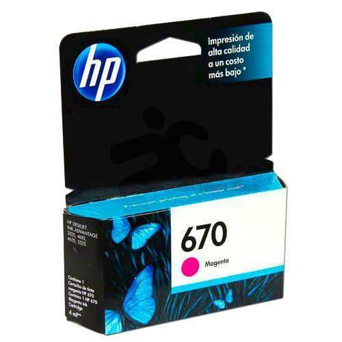 HPc CZ115AL 670 Magenta Ink Cartridge 300 pages