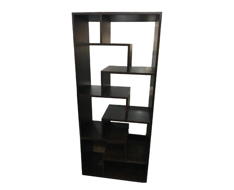 Dark Brown 8 Shelf Design Modern Bookcase Book Rack Display