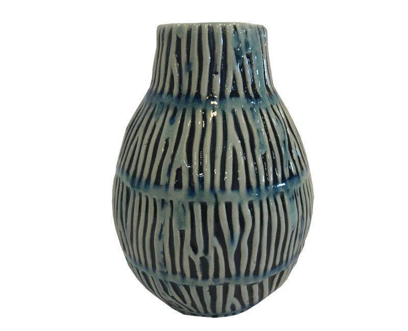 Decorative Ceramic Vase - Blue Shades