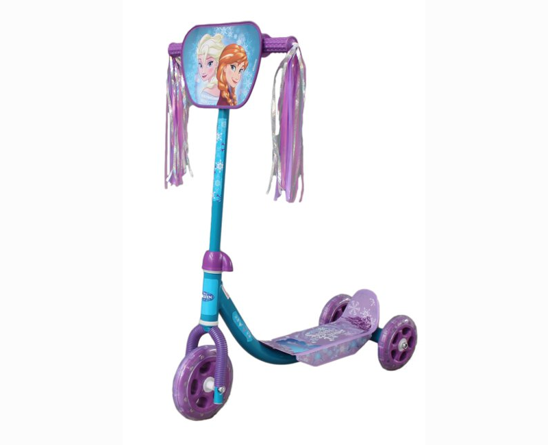 Disney Frozen blue and purple 3 wheel scooter