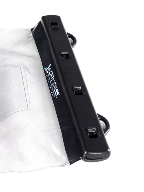 Dry Case Waterproof Vacuum Seal DC-17 Tablet Case showing seal