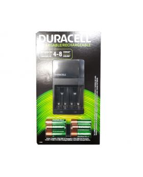 Duracell Rechargeable AA Batteries with Charger