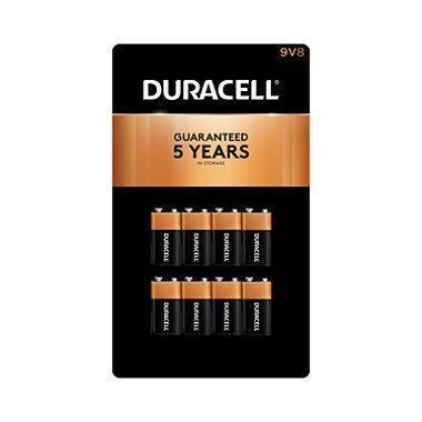 Duracell Coppertop Alkaline Batteries 9V, 8pk