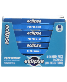 Eclipse Peppermint Chewing Gum 8 Pack