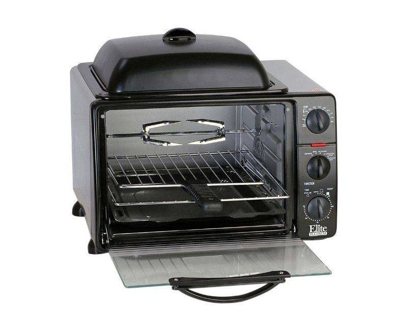 Elite Platinum Convection Countertop Oven Rotisserie Grill & Griddle