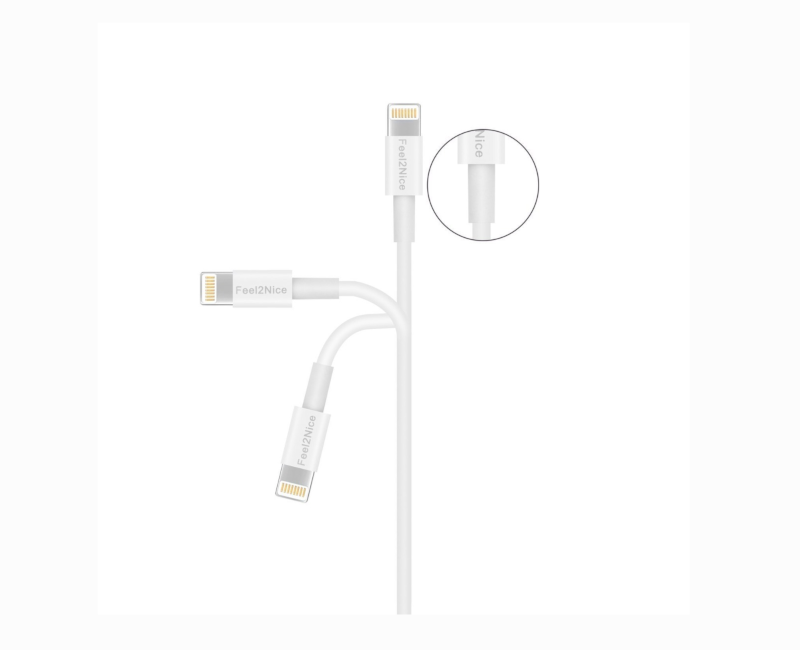 Feel2Nice Lightning Charger 6FT Cable- Iphone USB Data Sync Charging Cord
