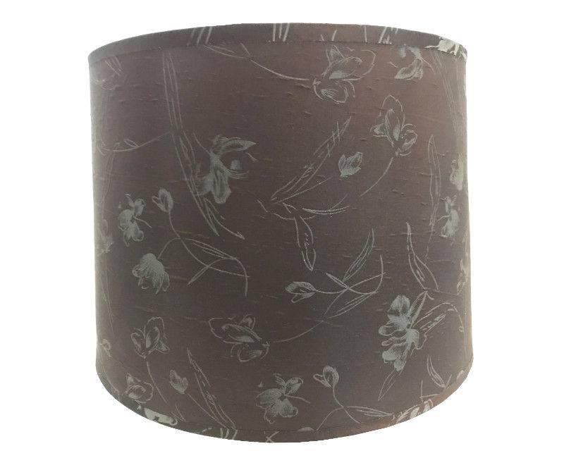 Floral Shade Grey Table Lamp