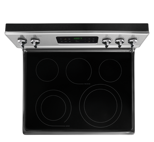 Top view of the Frigidaire 30 Inch Electric Stove FGEF3032MF