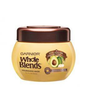 Garnier whole blends avocado oil and shea butter nourishing mask