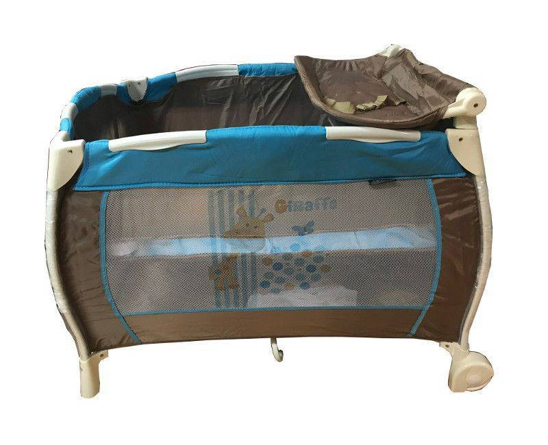 Giraffe blue and brown play pen pack and play with changing station