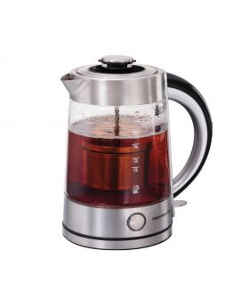 Hamilton Beach 40868 1.7 Litre Electric Glass Kettle with Tea Steeper
