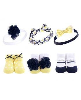Headband & Sock Gift Set - Daisy 0-9 Months