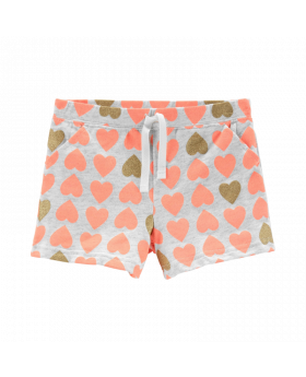 Carter's Heart Pull-On French Terry Shorts
