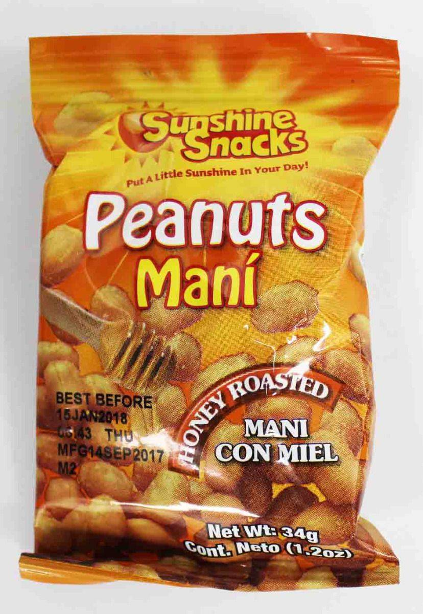 Sunshine 35g Honey Roasted Peanuts 24ct