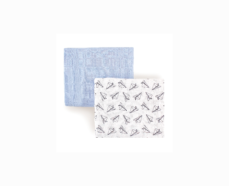 Hudson Baby Two Swaddle Blankets (Boys)