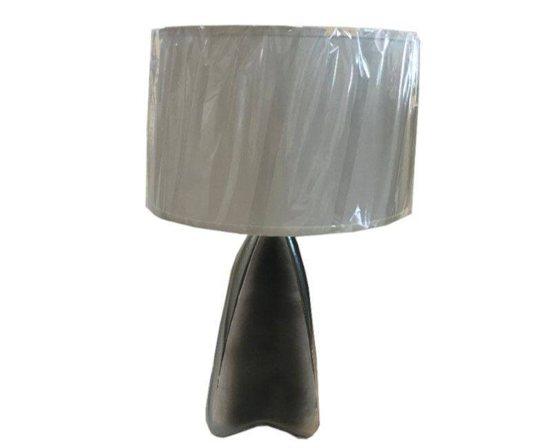 Hypnotic Table Lamp - Steel Base with Ivory Shade