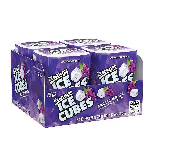 Ice Breakers IceCube Gum Raspberry 4pk x40 Pieces