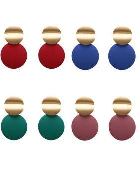 Disc Drop Earrings