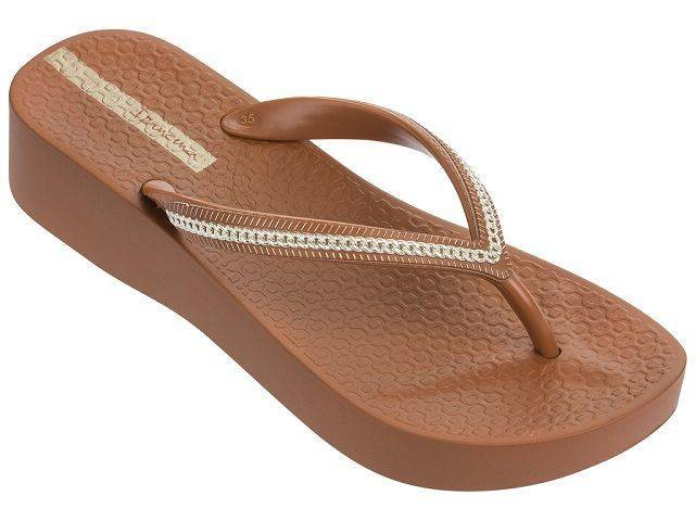 Ipanema Brown Mesh III Platform Sandals for Women